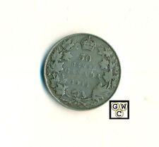 1914 Canada 50cents Coin ; VG