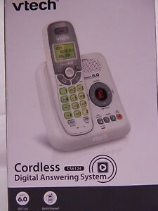 VTECH *CS6124* 1 HANDSET CORDLESS DIGITAL ANSWERING SYSTEM WHITE