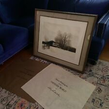 """Early Bob Timberlake LE Etching Print """"Another World"""" 38/300 Framed w/ Glass"""