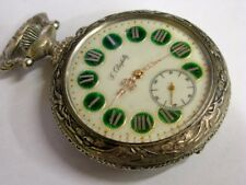 Rare montre Régulateur Doxa Pompiers Frainier Antique pocket watch Fireman 1900