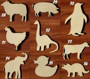 Animals Various sizes Laser cut MDF wooden Craft Set Shape Tags Embellishment v4