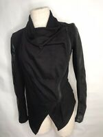 Blank NYC Black Faux Leather Cowl Neck Jacket Size XS