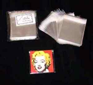 """100 - Clear Cello Bags approx 6"""" x 5½"""" ( 150 x 137mm ) Peel and Seal - 91"""