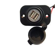 Einbau-Steckdose 2x USB 12V-24V für Motorrad, Wohnmobil Wohnwagen  Bordsteckdose
