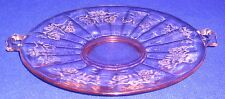 Pink Glass Serving Tray - SHIPPING INCLUDED