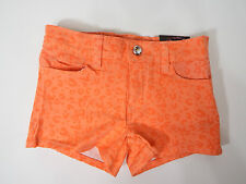 Almost Famous Girls Shorts Orange With Animal Print  Size 14