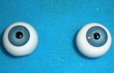 """pair of old glass eyes blue 0.71"""""""