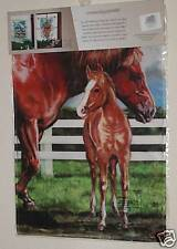 """29""""x43"""" MARE WITH FOAL COUNTRY HORSE LARGE BANNER FLAG SUMMER FARM DECOR"""