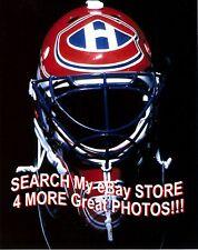 Patrick ROY Montreal CANADIENS MASK 8X10 Razor SHARP Hall of Famer 4 CUPS C@@L!!