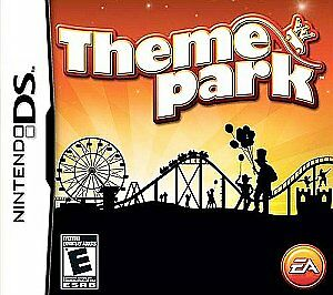 THEME PARK NINTENDO DS GAME! BUILD AND MANAGE A THEME PARK LIKE SIX FLAGS! L@@K!