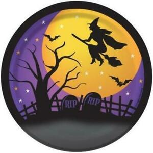 Halloween House of Fright 7 Inch Paper Plates 8 Pack Halloween Party Tableware
