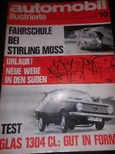 magazine magazine Auto Mobile illustré 10/67 Mai Glas 1304 CL VW Auto Car