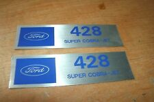 FORD 428SCJ 428 SUPER COBRA JET VALVE COVER DECALS NEW PAIR MUSTANG SHELBY FAIRL