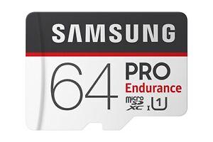 Samsung PRO Endurance 64GB microSDXC 100MB/s UHS-I  Memory Card with Adapter-UK
