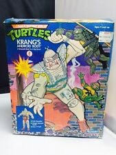 """Vintage TMNT Krang Android Body 11"""" Figure with Box and Insert 1991"""