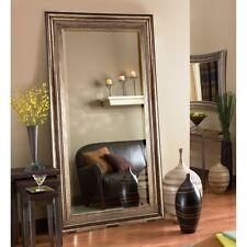 Over-sized Extra Large Floor Mirror  Full Length Bronze Frame Finish Wood NEW