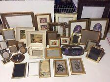 Vintage Ornate Photo Frame/Mirror Lot Wedding Gold Brass Wood Metal 40 Frames