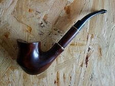 """FLORIA 7,5"""" Tobacco Smoking Pipe Pear Wood Hand Carved, 5 Charcoal Filters Blitz"""