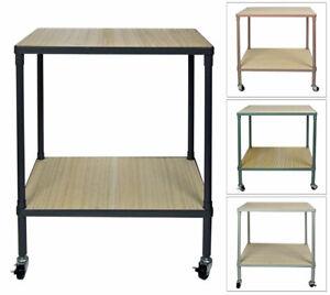 Rolltisch 50x65x35 Küchenwagen Metallgestell Küchenregal Beistellwagen Rollwagen