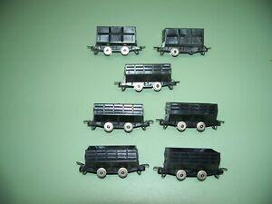 N SCALE ROCO UNMARKED 7 - COAL / ORE HOPPER CARS