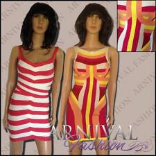 Regular Size Striped Stretch, Bodycon Cocktail Dresses for Women