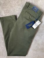 """RALPH LAUREN POLO GREEN M CLASSICS SLIM FIT CHINOS TROUSERS PANTS  30""""  NEW TAGS"""