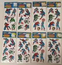 Vintage Marvel 1987 Super Heroes Spider-Man Capt America Puffy Stickers Lot Of 8
