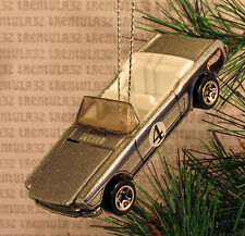 '65 FORD MUSTANG CONVERTIBLE 1965 SILVER WHITE CHRISTMAS ORNAMENT XMAS