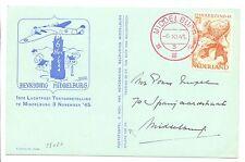 NEDERLAND 1945-11-6  LUCHTPOST TENTOONSTELLING  PM = MIDDELBURG = IN RED VF