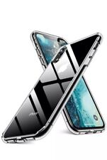 Iphone XR Case, Crystal Clear 9H Glass Tempered Back Cover TPU Frame