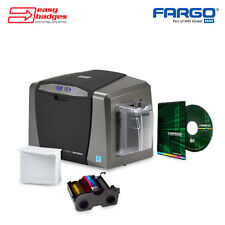 Fargo DTC1250e Complete Single Sided ID Card System For MAC & PC