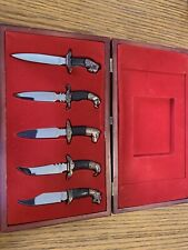 Vintage Bronze Animal Haed Dagger Set
