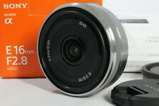 Mint SONY 16mm f2.8 Pancake Lens SEL16F28 E Mount with Box from Japan DHL