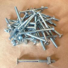 12 FLEXA-FURNITURE/BED BOLTS W/barrel nuts-ALLEN HEAD- 8 mm x 110 mm, FREE S&H!