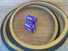 2 NEW  Duro 26x2.10 Gum Wall Mountain Bicycle Tires with Two 2 Duro inner tubes