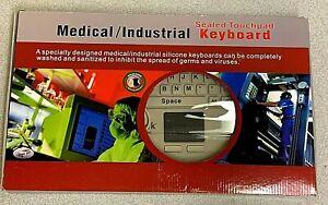 New Anacom MedTek Medical / Industrial Sealed Touchpad USB Keyboard