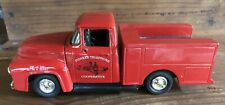 "ertl toy truck bank 1956 ford utility truck red ""Pioneer Telephone"" advertising"