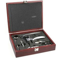 9 Pieces Wine Tool Set Bottle Opener Wooden Gift Box Corkscrew Accessories