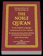 The Quran: The Meaning of The Noble Qur'an (Dr. Al-Hilali and Dr. Muhsin Khan)