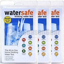 3x WaterSafe WS-425B Drinking Water Test Kit, E.Coli Bacteria Lead Pesticides pH