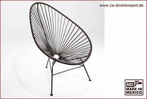 Großer Acapulco Chair - dunkelbraun - Original aus Mexico - Spaghetti Sessel