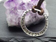Elder Futhark Yggdrasil Viking Tree of Life Pendant  Beaded Cord Necklace Rune