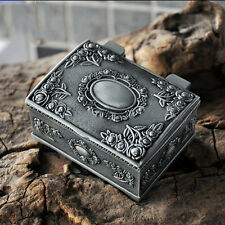 Vintage Small Metal Lock Jewelry Bracelet Gift Storage Holder Box Case