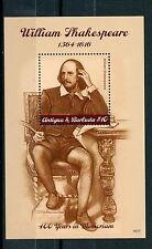 Antigua & Barbuda 2016 MNH William Shakespeare 400th Memorial 1v S/S Stamps