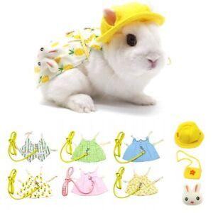 Dresses Kitten Clothes Pet Leash Set Rabbit Harness Clothing Suit Bunny Vest