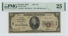 1929 TY 1 $20 First NB Ironton Ohio National CH# 98 PMG VF 25