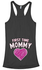 Threadrock Women's First Time Mommy Racerback Tank Top gift expecting mom