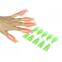 Women Acrylic Nail Art Smart Soak Off Clip Cap UV Gel Polish Remover Wrap Beauty