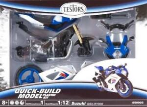 Testors 650003T 1/12 Suzuki GSX-R1000 Moto Quick-Build Modello Plastica Kit