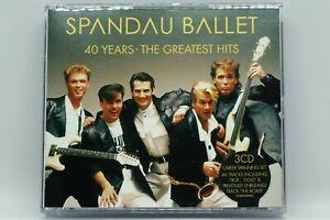 Spandau Ballet : 40 YEARS  THE GREATEST HITS - 3CD Anthology Album - Tony Hadley